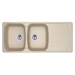 Lavello Franke mod. 114.0490.256 - AZG621 Avena - 2 Vasche + Gocciolatoio