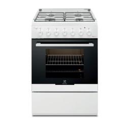 Cucina Electrolux a libera installazione mista RKK61181OW - Bianca - A - 56 L - 4 Fornelli